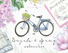 """Check out new work on my @Behance portfolio: """"Flowers and Bicycle Watercolors"""" http://be.net/gallery/54046291/Flowers-and-Bicycle-Watercolors"""