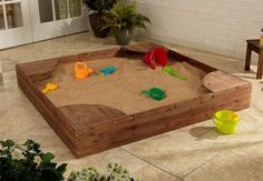 KidKraft Backyard Sandbox - Espresso - 00503 $163 The Kidkraft Backyard Sandbox gives kids a perfect place to build sandcastles, dig for treasure and play with all of their favorite sand toys. Parents will love watching their kids have so much fun without even leaving the backyard.Corners double as convenient seating Mesh cover for when sandbox is not in use Large enough that multiple children can play at once Reinforced wooden panels prevent warping and weathering
