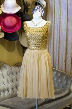 Cabaret Vintage - Vintage Gold Sequinned Dress, $165.00 (http://www.cabaretvintage.com/dresses/vintage-gold-sequinned-dress/)