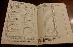 Bullet Journal December Setup - Sublime Reflection