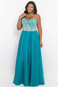A-Line/Princess Sweetheart Floor-length Beading Sleeveless Chiffon Plus Size Prom Dresses - Plus Size Formal Dresses - Formal Dresses Cocktail Dresses Online, Evening Dresses Online, Cheap Evening Dresses, Womens Cocktail Dresses, A Line Prom Dresses, Tulle Prom Dress, Homecoming Dresses, Dress Online, Strapless Dress
