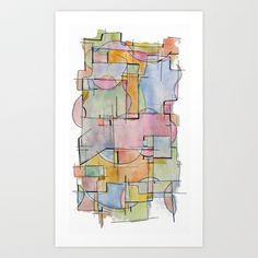 Abstract Watercolor Art Print by Ashley Grebe - $17.68