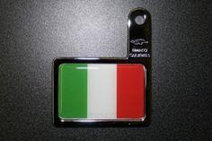 Autoplakette Italien Fahne für Kennzeichenhalterung