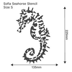 Seahorse Stencil from The Stencil Studio. by TheStencilStudio