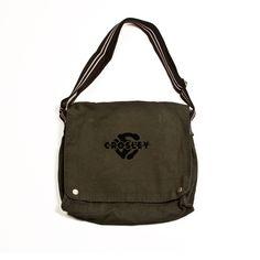 Crosley | 45 Symbol Messenger Bag #crosley #45 #45rpm #logo #messengerbag #armygreen