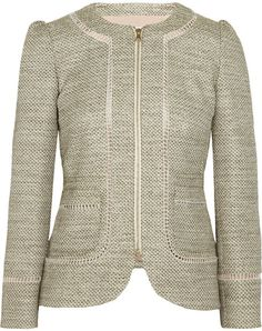 RED VALENTINO  Green Tweed Jacket