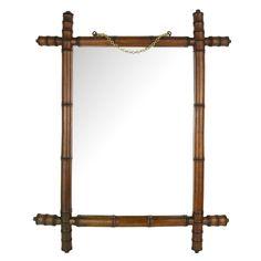 Miroir bois - faux bambou / Moyen modèle