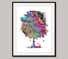 TREE No 1 giclee print art poster designed for 10 x by interiorart