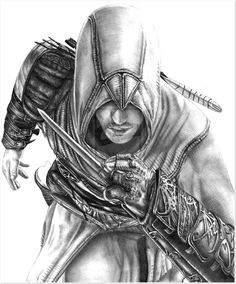 Altair - Assassins Creed by AlexMahone on DeviantArt Assassins Creed Dibujos, Tatuajes Assassins Creed, Assassins Creed Tattoo, Assassins Creed Series, Arthas Menethil, Assassin's Creed Wallpaper, Assassin's Creed I, Painting Corner, Detailed Coloring Pages
