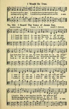 I Heard the Voice of Jesus Say - Hymnary.org