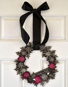 Cupcake Wishes & Birthday Dreams: {13 Days of Handmade Halloween} Halloween Flower Wreath