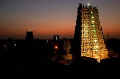 Dawn over the Meenakshi Temple, Madurai.