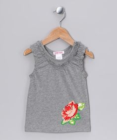 Take a look at this Emerald Rose Ruffle Tank - Toddler & Girls by Baby Nay Collection on #zulily today!