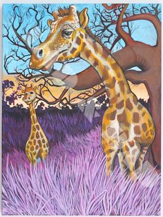 Giraffes Painting
