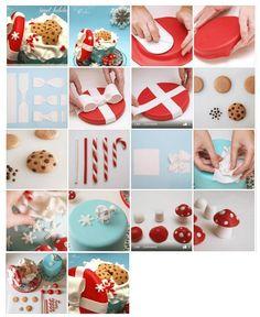 Cookie cake box. It is created by http://www.facebook.com/NanaeNana.CakeDesign.Alapanyagot és ételfestéket vásárolj a GlazurShopból! http://shop.glazur.hu