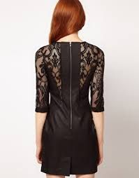 lace and leather dress