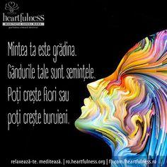 Mintea ta este grădina. Gândurile tale sunt semințele. Poți crește flori sau poți crește buruieni. 21 septembrie - ZIUA INTERNAȚIONALĂ A PĂCII #heartfulness #peace_day #hfnro Heartfulness România - Google+