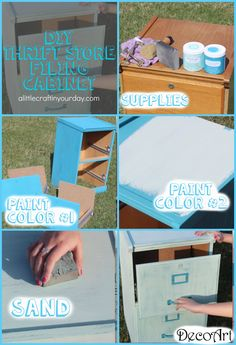 DIY Thrift Store Filing Cabinet | TEEN ROOM DECOR - A Little Craft In Your Day