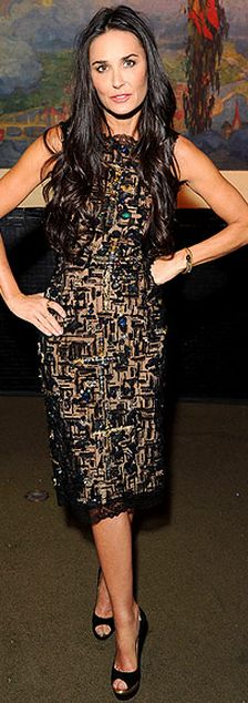Demi Moore  Dress - Oscar de la Renta Shoes - Jimmy Choo Purse - Judith 6eea7af59533c
