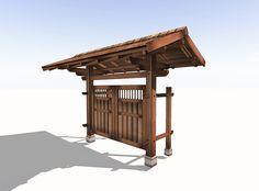 Japanese Garden Gate - Hougei Shingles
