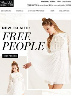 NEW To Site: Free People - Saks Fifth Avenue People Shopping, Saks Fifth Avenue, Coupon Codes, Free People, Banner, Graphics, Magazine, Retro, Digital