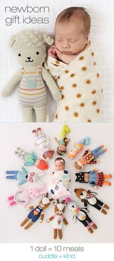 Every cuddle+kind doll is lovingly handcrafted with natural, premium cotton yarn and provides 10 meals to children in need. There are 23 adorable, fair trade dolls to choose from, each with their own name, birthday, personality and inspirational print. Shop and help feed children in need, 1 doll = 10 meals.