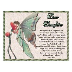 Shop Daughter Fairy Birthday Postcard created by franticattic. Happy Birthday Daughter Cards, Birthday Postcards, Dear Daughter, My Wish For You, Fairy Birthday, Postcard Size, Special Day, Smudging, Paper Texture