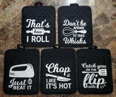 Purple Kitchen, Quilted Potholders, Kitchen Humor, Kitchen Vinyl, Vinyl Siding, My Fb, Hot Pads, White Vinyl, Gag Gifts