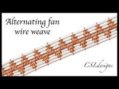 Spaced diagonal wire weave ⎮ Wire weaving series - YouTube