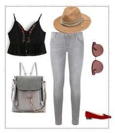 """""""Untitled #51"""" by sumely on Polyvore featuring Maje, Charlotte Olympia and Oliver Peoples"""