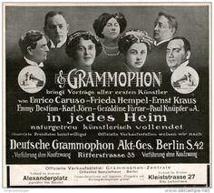 Original-Werbung/ Anzeige 1911 - DEUTSCHE GRAMMOPHON - BERLIN - ca. 160 X 140 mm