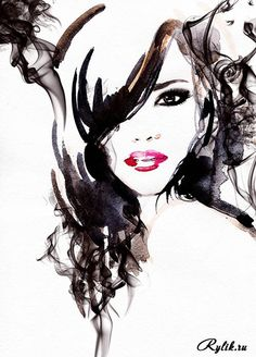 Красивые девушки, портреты - акварельные рисунки. Watercolor Beautiful Women