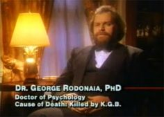 George Rodonaia's NDE after being killed by the KGB and lying dead for 3 days