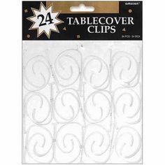 Buy Amscan Tablecover Clips, 24pk at Walmart.com - -