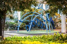 Devonian Garden in Calgary, Alberta, offers the Evos indoors! But with beautiful surrounding the play space, still get a taste of Park Playground, Indoor Playground, Playground Ideas, Pocket Garden, Commercial Playground Equipment, Pocket Park, Landscape Structure, Playgrounds, Outdoor Play
