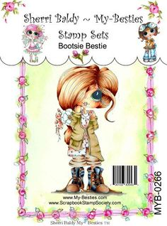 Sherri Baldy Stamps  This is a Clear Cling Rubber Stamp  21/2 X 3 1/2    You may use the images to create and sell handmade/colored cards under our Angel Policy and projects; please give credit to *Sherri Baldy* for the image used in the project or product.