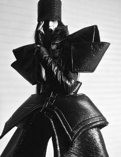 Avant Garde Fashion with graphic silhouette - sculptural fashion design; 3D fashion