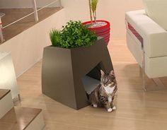 An indoor house planter or cozy cat home? From Dornob.com