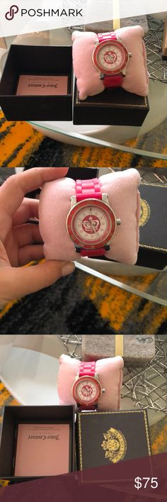 Juicy Couture watch Worn few times but in good condition. Comes with everything u see in the picture. One corner of the box is little damaged. Juicy Couture Accessories Watches