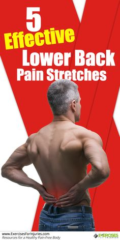 Low back pain can make everyday activities difficult, including exercising. Here are five effective lower back pain stretches to make your back feel better. Lower Back Pain Stretches, Back Pain Exercises, Yoga Exercises, Lower Back Pain Symptoms, Ab Workouts, Best Weight Loss, Weight Loss Tips, Lose Weight, Low Back Pain Relief