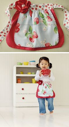 sweet little girl apron