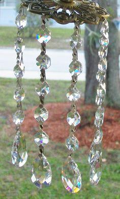 5 pc. Hanging Crystals for Cylinder Vase by weddingbridaldecor