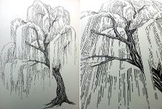 Willow Tree Tattoo   Willow tree in progress.... Add some dark green, Kelly…