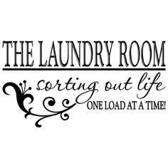 LAUNDRY ROOM QUOTE VINYL WALL DECAL STICKER ART-REMOVABLE WORDS HOME DECOR-MURAL