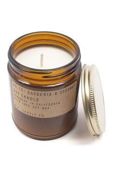 This Gardenia & Coconut Candle by P.F Candle Co. smells so good- consider me obsessed.