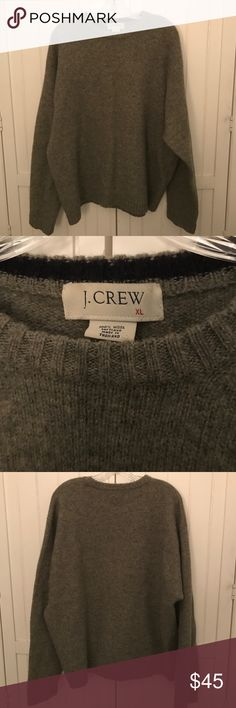 NEW! Men's J. Crew Sweater Men's gray wool J Crew crewneck sweater. Sweater is size XL and 100% Shetland wool. The sweater is in very good condition and very minor pilling from the natural wear of the wool. J. Crew Sweaters Crewneck