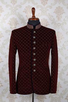 and slim fit pleasing with mandarin collar Blazer Outfits Men, Mens Fashion Blazer, Fashion Wear, Wedding Dress Men, Wedding Suits, Wedding Tuxedos, Wedding Attire, Indian Men Fashion, African Fashion