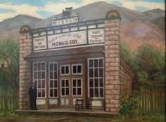 H. O. Magleby Furniture Store, Monroe, Utah Painting By?