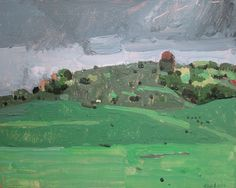 Rain on Wendy's Hill Original Plein Air Autumn by Paintbox on Etsy