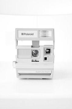 White Polaroid Vintage Lomography - Lomo ready cameras - Vintage collectible cameras www. Etsy.com/VintageLomography